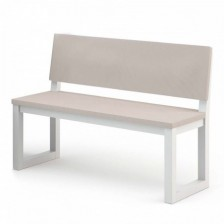 Panca moderna bianca - Alba 160