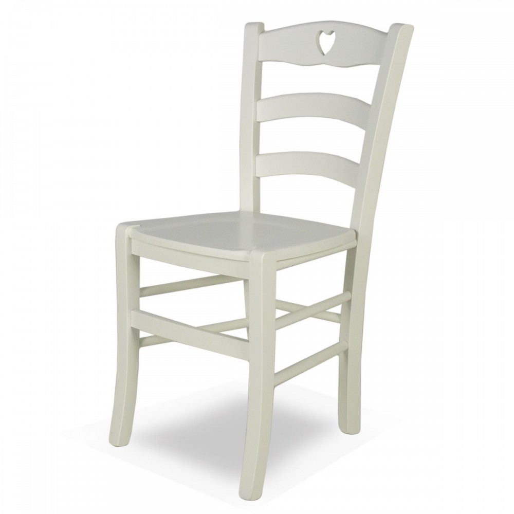 Sedia legno cuore - Shabby Cuore | ArredaSì